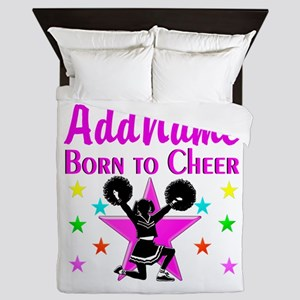 BORN TO CHEER Queen Duvet